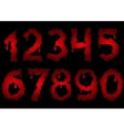 Red bloody numbers vector image