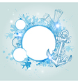 Abstract decorative marine background vector image vector image