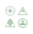 Hipster labels isolated set vector image