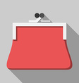 Red purse long shadow vector image