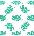 Seamless pattern with lizards tribal vector image vector image