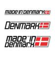 made in denmark vector image