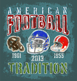 football tradition vector image vector image