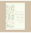 wedding invitation card with floral element vector image
