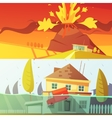 Natural Disaster Banners vector image vector image