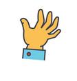 hand help concept line icon editable vector image