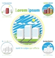 High-rise buildings - city life vector image