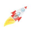 isolated big rocket vector image