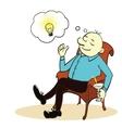 Man and ideas Cartoon concept vector image