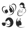 Mother and child icon or logo set vector image