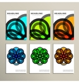 Set abstract colors line on white background vector image