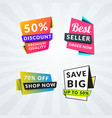 set of sale banners and labels design elements vector image