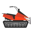 winter snow motorcycle vector image
