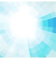 The sun in the blue sky vector image