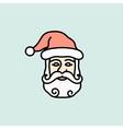 Christmas icon Santa Claus vector image