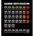 Binder silhouettes collection with different icon vector image
