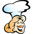 cartoon of an woman baker or chef vector image