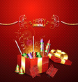 crackers on gift box vector image