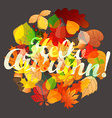 Different color leaves circle composition vector image