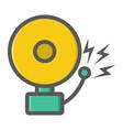 fire alarm colorful line icon intruder alarm vector image