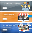 Flat design concept for technical support vector image
