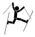 freestyle skiing flat icon vector image