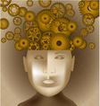 Gear mind background vector image