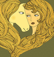GirlLovesHorse vector image