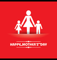 Mothers day greeting with family vector image