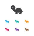 of animal symbol on turtle vector image