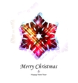 Purple snowflake vector image