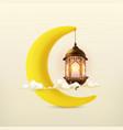 ramadan kareem 3d icon vector image