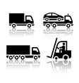 set of transport icons - truck vector image