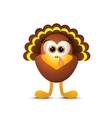 Thanksgiving turkey on white background vector image