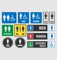 Toilet signs and restroom icons wc symbols vector image