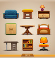 furniture icons-set 2 vector image