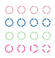 set of color circle arrows vector image
