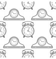 Alarm clock and mantel clocks black and white vector image