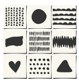 abstract geometric design cards set vector image vector image
