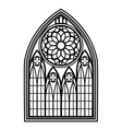 Window for churches and monasteries vector image vector image