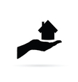 house in hand art vector image
