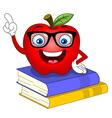 smart apple vector image