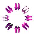 retro shoes vector image vector image