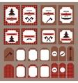 Printable set of vintage Lumberjack party elements vector image