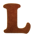 Leather textured letter L vector image vector image