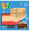 Concept fast delivery vector image