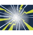 electric comic book explosion white yellow purple vector image