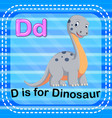 flashcard letter d is for dinosaur vector image
