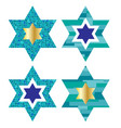jewish stars with pattern backgrounds vector image