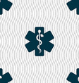 Medicine sign Seamless pattern with geometric vector image
